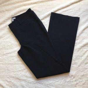 Black flare work pants
